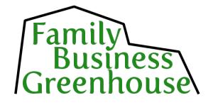 Family Business Greenhouse Logo on Transparency